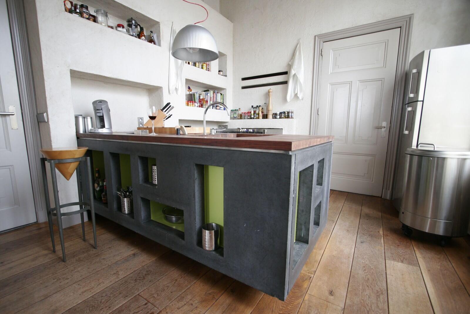 Beton Keuken Stoere : Keuken met betonblad fantastisch keuken stoer hout beton wit